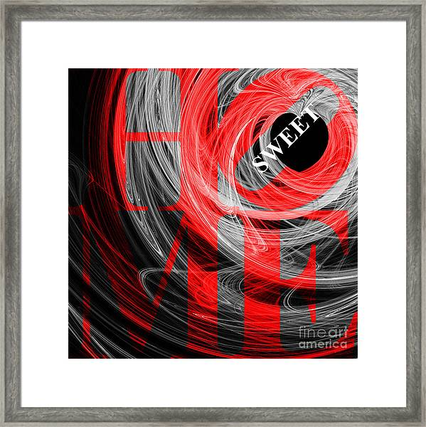 Home Sweet Home 20130713 Fractal Heart V2b Framed Print