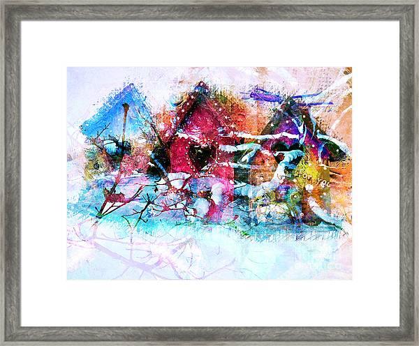 Home Through All Seasons Framed Print