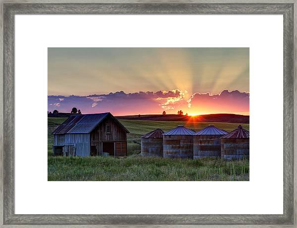 Home Town Sunset Framed Print