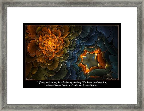 Home With Him Framed Print