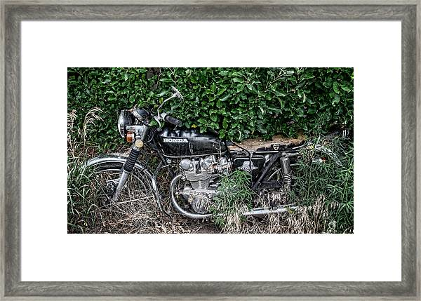 Framed Print featuring the photograph Honda 450 Motorcycle by Britt Runyon