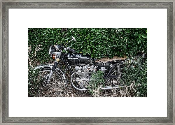 Honda 450 Motorcycle Framed Print