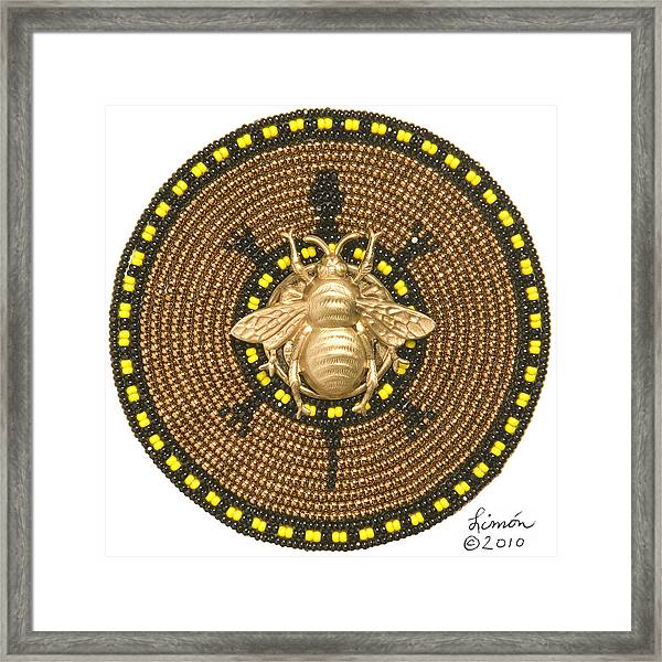 Honey Bee Turtle Framed Print