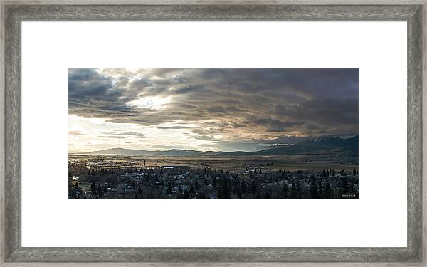 Honey Lake Valley Sunrise Framed Print by The Couso Collection