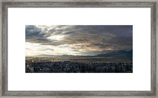 Honey Lake Valley Sunrise Framed Print