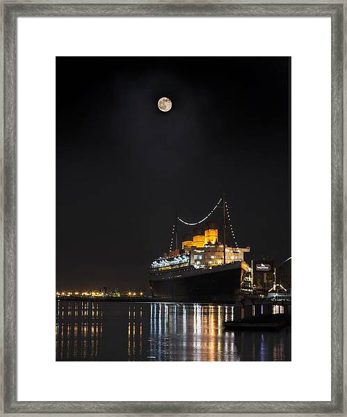 Honey Moon Reflects With The Queen By Denise Dube Framed Print