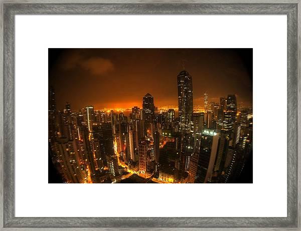 Hong Kong Gotham Framed Print