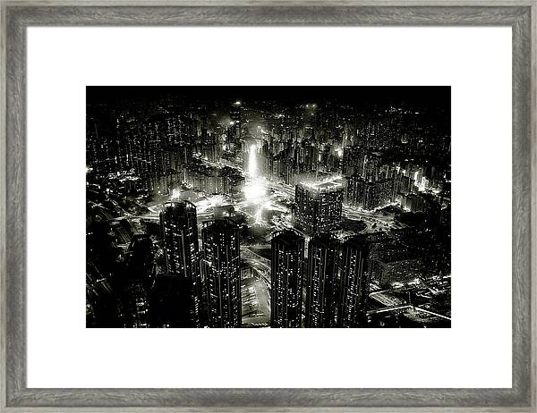 Hong Kong Night Framed Print