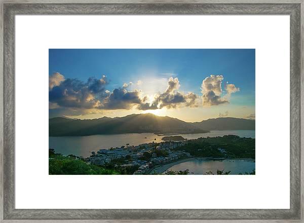Hong Kong Peng Chau, Finger Hill Framed Print