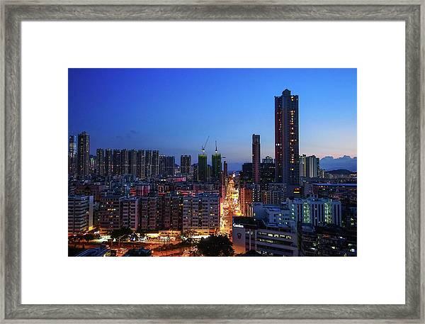 Hong Kong, Shek Kip Mei Garden Hill Framed Print