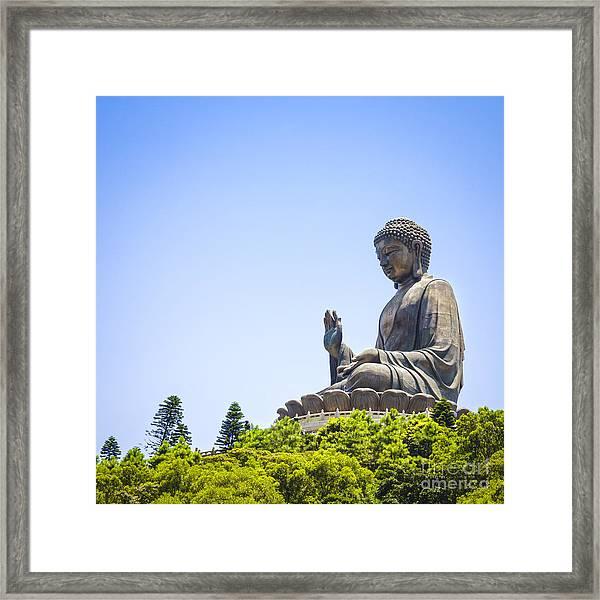 Hong Kong The Giant Buddha Framed Print