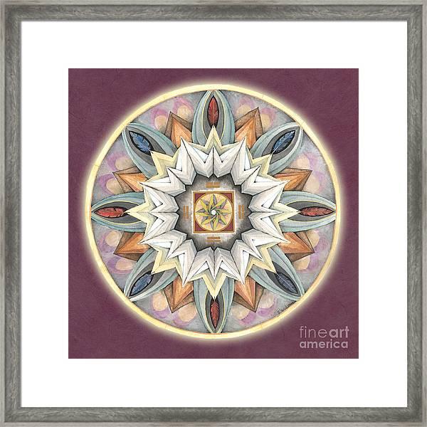 Honor Mandala Framed Print