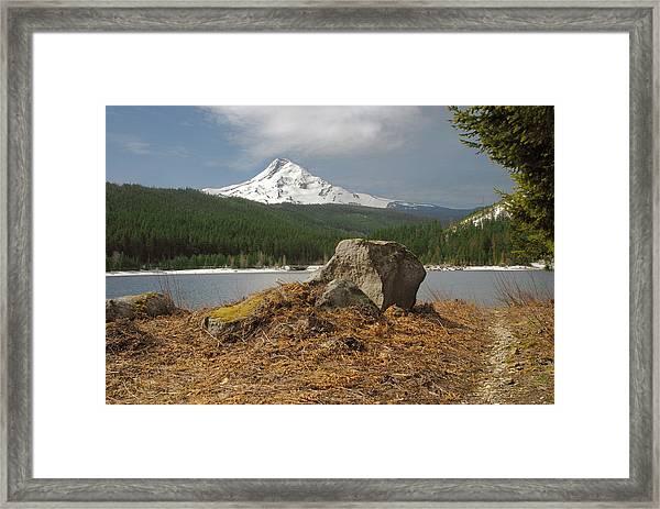 Hood Rock Framed Print