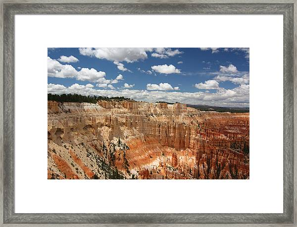 Hoodoos At Bryce Canyon Framed Print