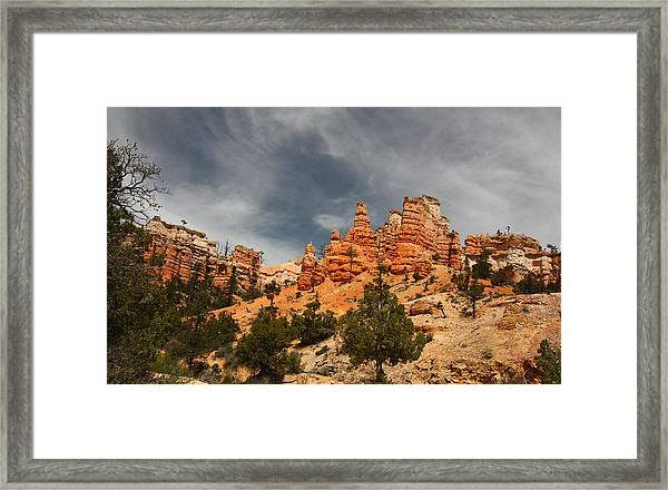Hoodoos At Mossey Creek Trail Framed Print
