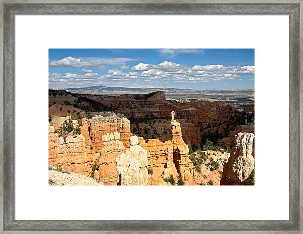 Hoodoos In The Sunlight In Bryce Canyon Np Framed Print