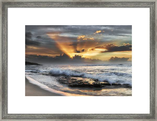 Ho'okipa Sunset Framed Print