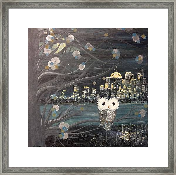 Hoolandia - Hoo's City 02 Framed Print