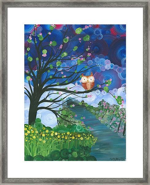 Hoolandia Seasons Spring Framed Print