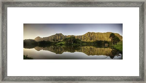 Hoomaluhia Sunrise Framed Print