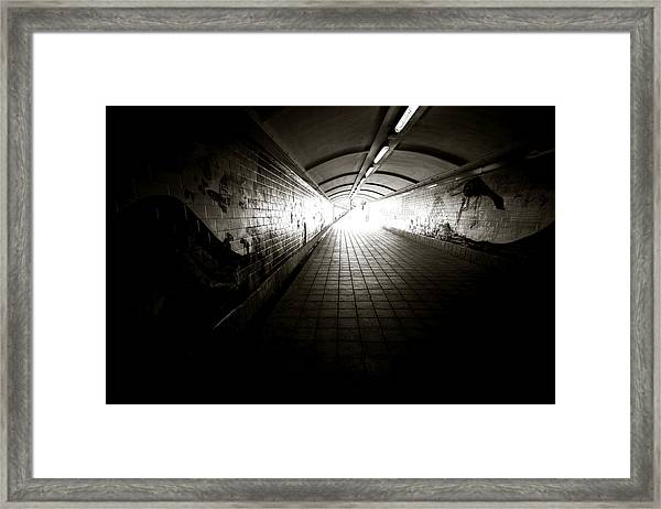 Light At End Of The Tunnel Framed Print