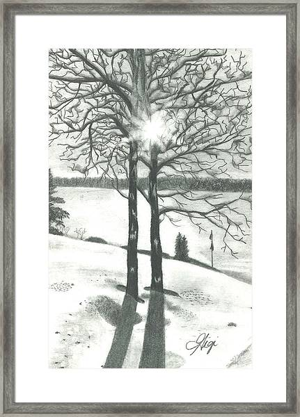 Framed Print featuring the drawing Hope Of Spring by Gigi Dequanne