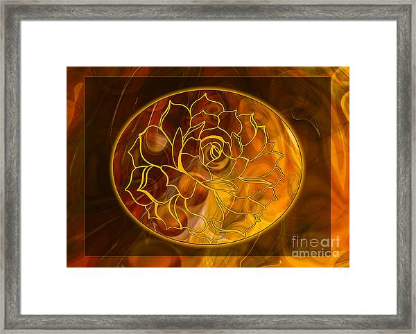 Hope Springs Eternal Abstract Healing Art Framed Print