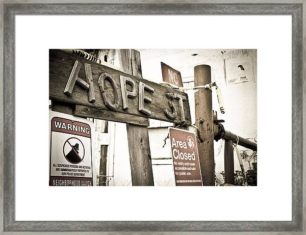 Framed Print featuring the photograph Hope Street by Priya Ghose