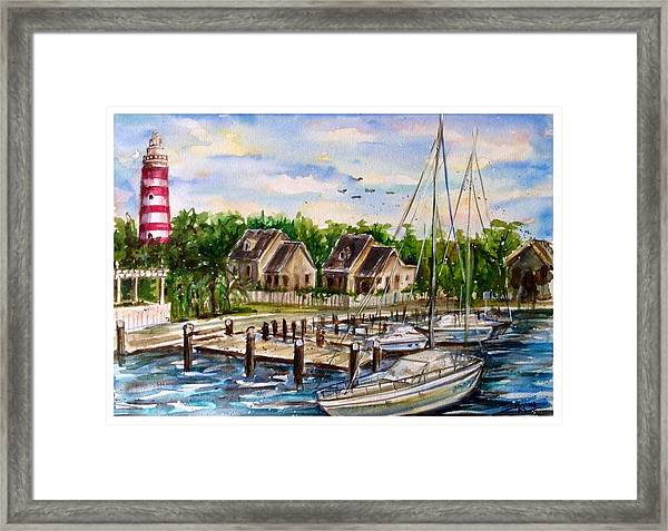 Framed Print featuring the painting Hope Town by Katerina Kovatcheva