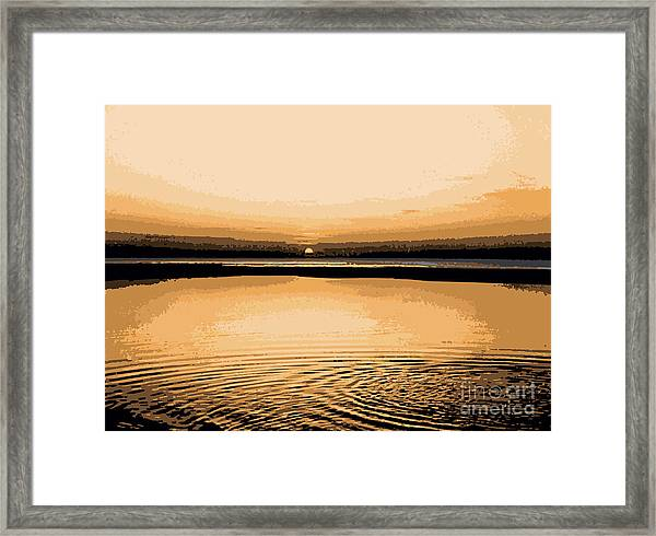 Horizon 3 Framed Print