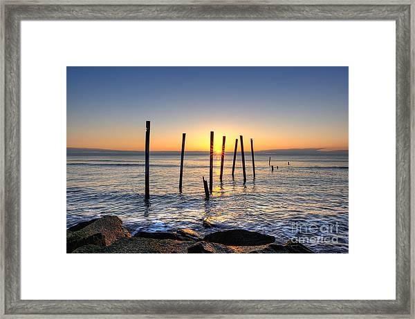 Horizon Sunburst Framed Print