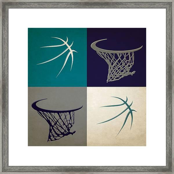 Hornets Ball And Hoop Framed Print