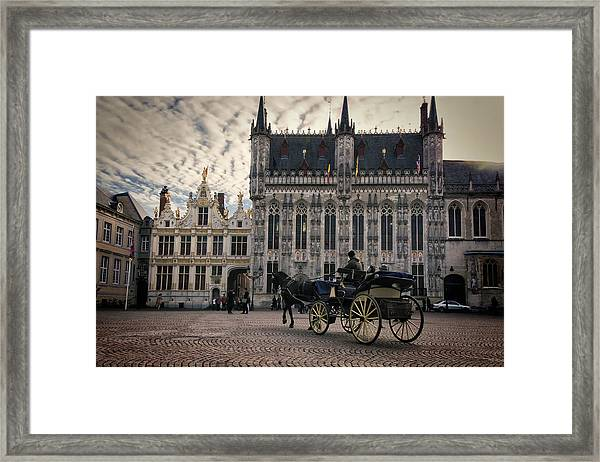 Horse And Carriage Framed Print