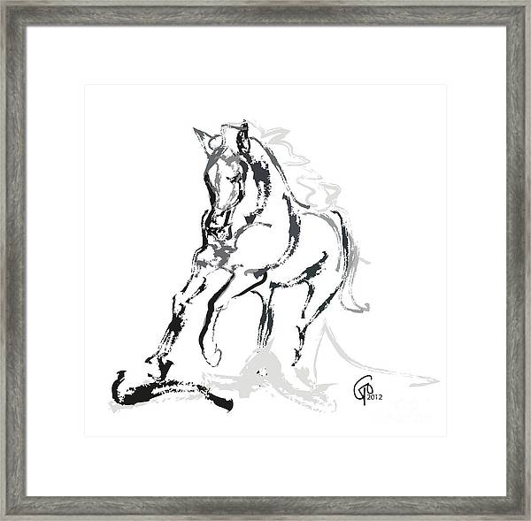 Horse- Andalusian Angel Framed Print