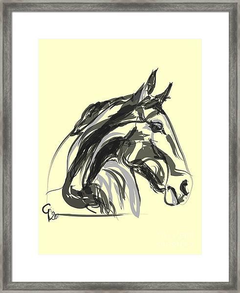 horse - Apple digital Framed Print