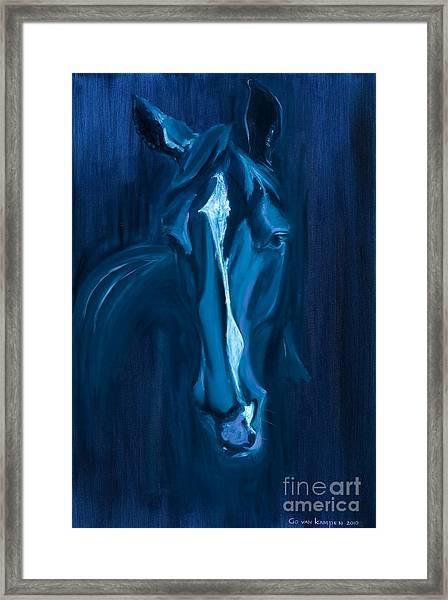 horse - Apple indigo Framed Print