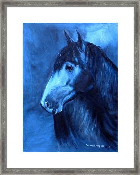 Horse - Carol In Indigo Framed Print