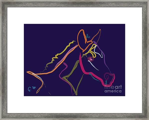 Horse - Colour Filly Framed Print