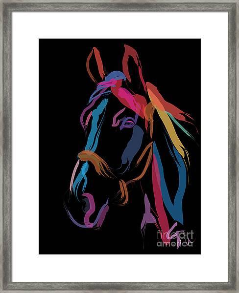 Horse-colour Me Beautiful Framed Print