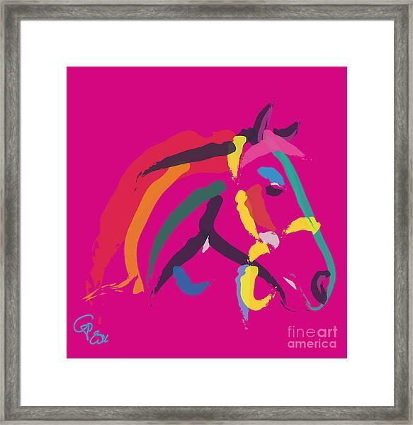 Horse - Colour Me Strong Framed Print
