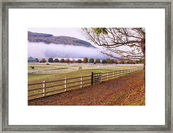 Horse Farm Autumn Framed Print