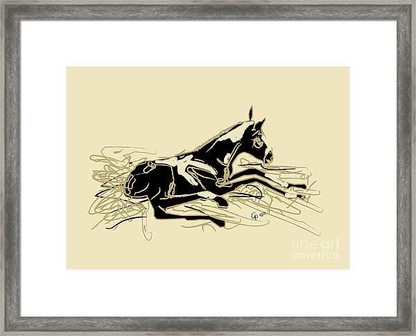 Horse-foal- Just Born Framed Print
