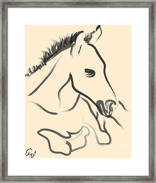 Horse-foal-pure Framed Print