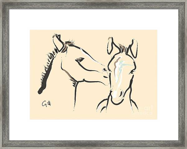 Horse-foals-together 6 Framed Print