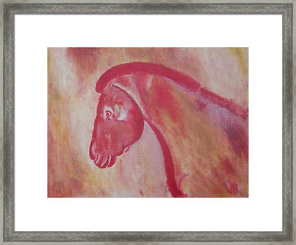 Horse From Chauvet Cave Framed Print