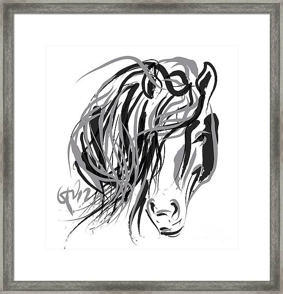 Horse- Hair And Horse Framed Print