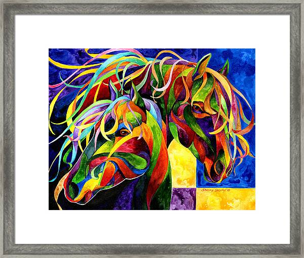 Horse Hues Framed Print