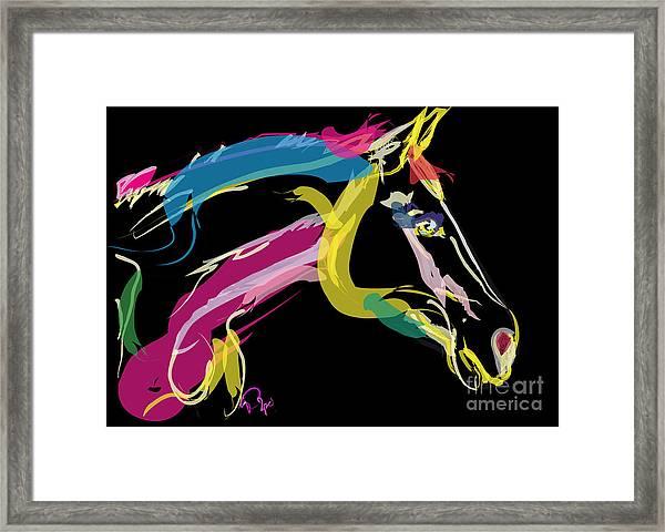 Horse- Lovely Colours Framed Print