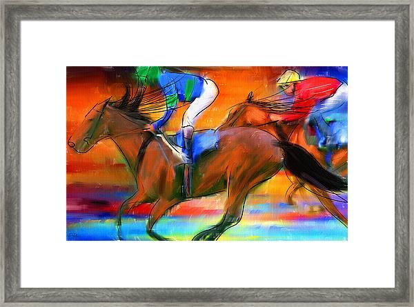 Horse Racing II Framed Print