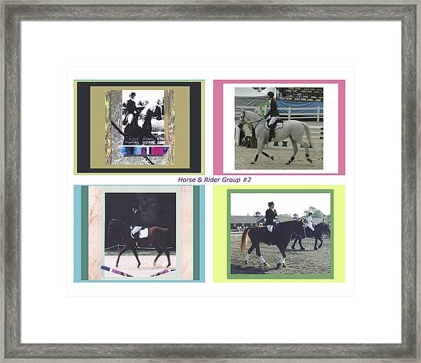 Horse Rider Group 2 Framed Print